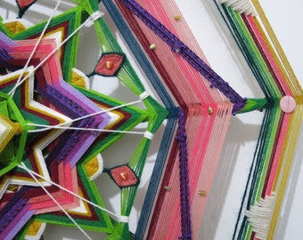 Finding Joy 2, a 30 inch, Ojo de Dios, by Inga Savage  InStock