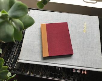 Colorblock // Small Hardcover Book // Maroon & Black
