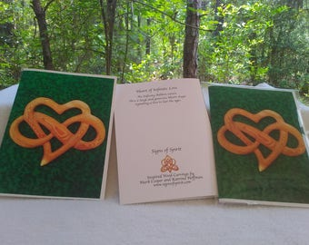 Heart of Infinite Love Greeting Card - Heart shape and Infinity Ribbon Blank Card