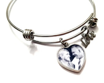 Valentines Day Gift / Photo Bracelet / Photo Jewelry / Valentines Day Gift Jewelry / Gifts for Her / Charm Bracelet / Photo Gifts /