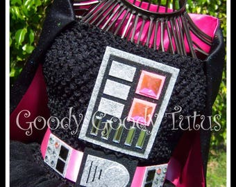 THE PINK SIDE Darth Vader Inspired Tutu Dress with Attached Cape