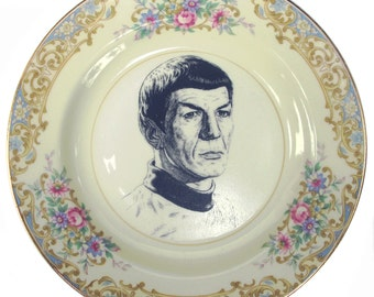 "Spock Portrait Plate 6"""