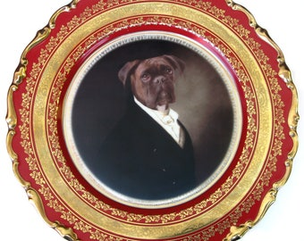 Portrait of Brutus the Boxer Plate 11""