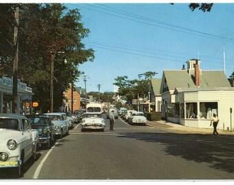 Main Street Chatham Cape Cod Massachusetts 1950s postcard