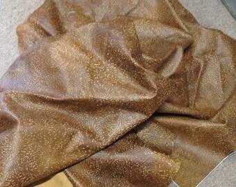 CLFE14.  Brown Embossed Floral Leather Cowhide