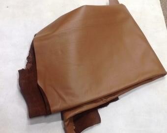 ELK01.  Caramel Leather Elk Hide