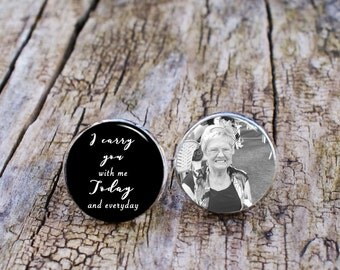 I carry you with me cufflinks, Memory Cufflinks, Photo Cufflinks, Father of the Bride Cufflinks, Personalised cufflinks, Dad Cuff Links, 925