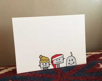 Holiday Robots Notecard