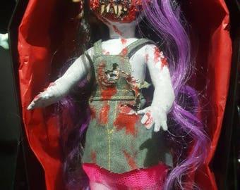 living dead dolls horror custom doll Rubi glow in the dark