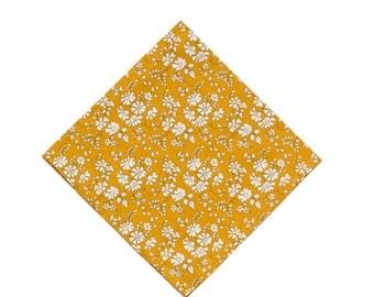 Pomp & Ceremony Pocket Square handkerchief Liberty of London Capel mustard