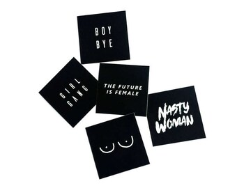 The Future is Female Feminist Vinyl Sticker Set 5