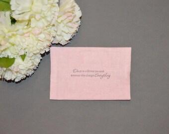 Wedding Tissue Holder, Bridal Tissue Case, Shabby, Romantic, Rustic Wedding Travel Tissue Cozy, Pocket Tissue Holder