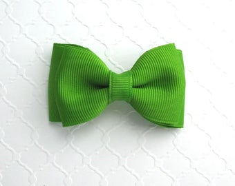 "Apple Green Toddler Girls Christmas Hair Bow ~ 3"" Baby Toddler Girls Simple Classic Hair Bows"