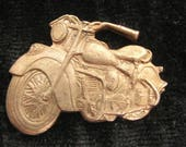 6 Pcs Motorcycle Jewelry Finding Raw Unfinished Copper Indian Chief Motorbike Jewelry Making Stamping 1 1/4 Inch Wide by 1 Inch Tall
