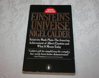 Vintage Paperback Book Einstein's Univese by Nigel Calder 1980