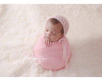 Knit Baby Hat, Photography Prop, Newborn Baby Bonnet, Baby Hat, Newborn Photo Prop, Knit Photo prop, Photo Shoot Prop