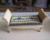 RESERVED - Hand embroided cushion for your dollshouse sofa 1:12