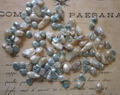 46 baroque pearls + 50 faux keshi pearls