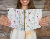 Birds on branches handmade journal / sketchbook