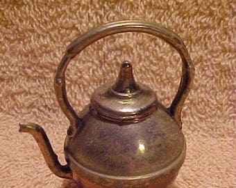 Vintage Miniature Copper Bottom Teapot Tea Kettle