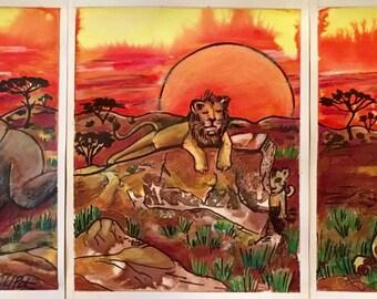 Savannah Sunrise Prints (set of 3)