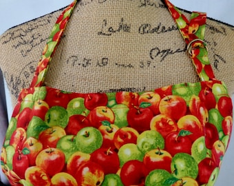 Full Apron, Apples, Farm, Unisex Apron, Mother's Day, Father's Day, Bridal Shower Gift, Vendor Apron, Market Garden