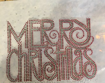 Merry Christmas Rhinestone Heat Transfer DIY