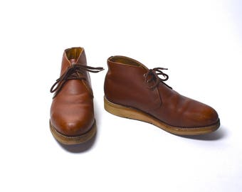 Brown Leather RED WING Chukka Boot, Size 8 D