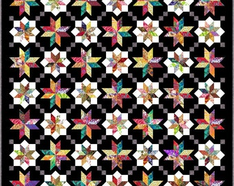 """NEW - LYRICAL - Queen 91"""" x 91"""" or Double 79"""" x 79"""" - Quilt-Addicts Pre-cut Patchwork Quilt Kit or Finished Quilt"""