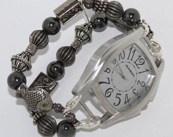 Splendor Interchangeable Beaded Bracelet Watch Band