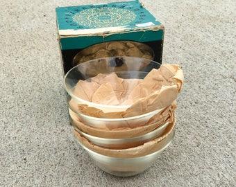 Vintage Set of 6 Pyrex Custard Cups - Original Box