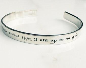 I Solemnly Swear I Am Up To No Good  Harry Potter Bracelet . Harry Potter Jewelry . Hogwarts Bracelet