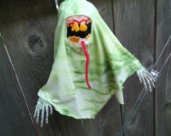 Glow-in-the-Dark Toxic Slobber Ghost - Original Hanging Halloween Decoration