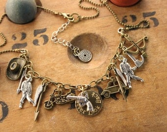 Walking Dead Inspired Charm Necklace