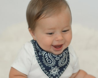Bandana Bib: Drool bib, Bandana Terry Cloth Bib, Perfect for Birthday Parties, Cowboy, Baby Gift