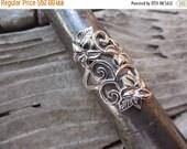 ON SALE Wide flower ring in sterling silver 925