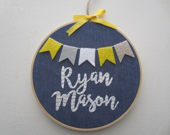 Custom Name - Embroidery Hoop Art