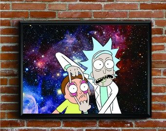 Rick and morty poster | Etsy