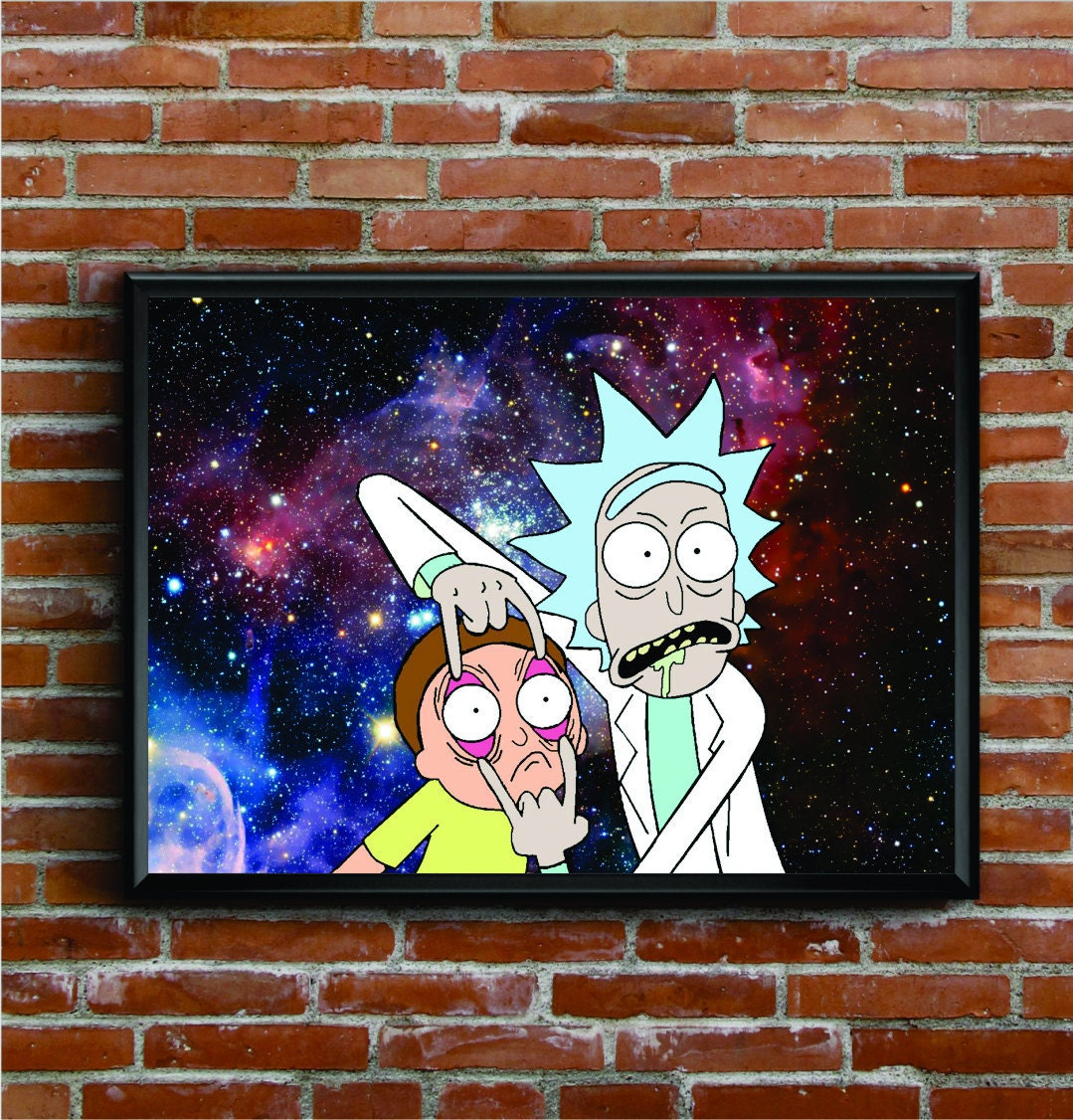 Rick and Morty Open your eyes Poster