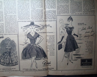 1959 The Washington Post Cocktail Dresses Little Black Dress Ads.
