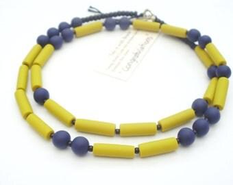 CONGRATULATIONS necklace minimalistic mustard yellow
