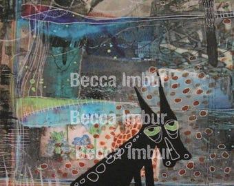 "INSTANT DOWNLOAD : Listless 8"" x 10"" - Altered Book - Art Journal - Paper Art"