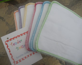 30 Ct 2 Ply Tender Bottoms Baby Wipes 8 inch square