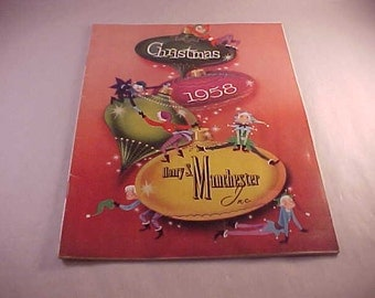 1958 Harry S Manchester Department Store Christmas Catalog