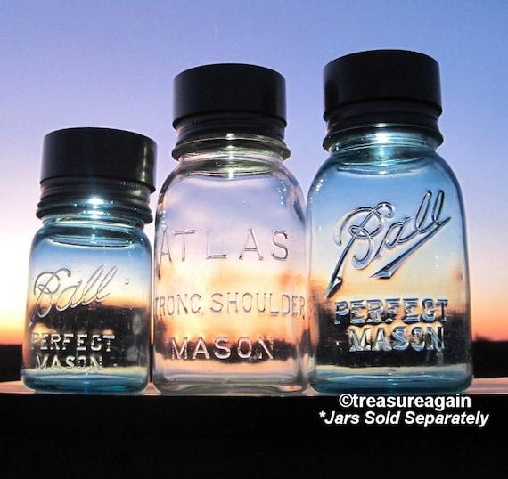 Twist On Jar Lights 3 Mason Jar Lids LED Solar Powered Eco Friendly Lights for Upcycled Jars, the Original Mason Jar Solar Lid, No jars