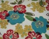 Modern Floral Home Decor Fabric, Magnolia Home Fashion
