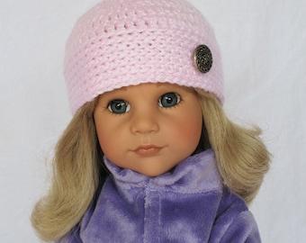 Hand Crocheted 18 Inch American Doll Hat Cap