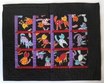 Colorful Handmade Cat Wall Hanging Table Centerpiece