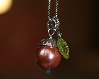 Acorn Pearl Necklace