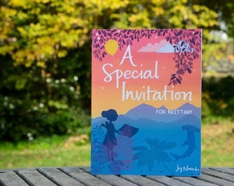 "The Perfect Birthday Gift! - Personalized Children's Book - ""A Special Invitation"" Custom Kid's Book"